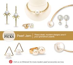 """You might want to rethink your opinion of """"old-fashioned,"""" snoozy pearls. This season, they're as chic as can be in fresh modern designs."""