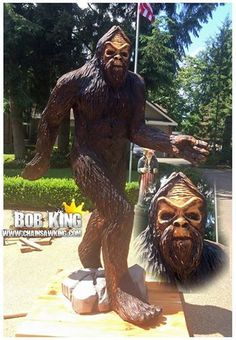 Big foot - Chainsaw Carving And Chainsaw Art – Bob King – Chainsaw King