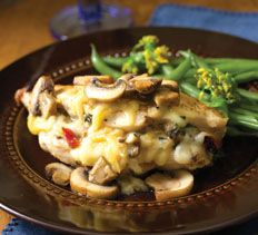 Comté-Stuffed Chicken Breasts with Mushrooms