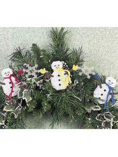 Quick-as-a-Wink Snowman Garland