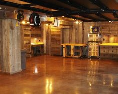 13 Best Beautiful Garage Interiors Images Concrete Garages Concrete Floors Cool Garages