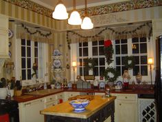 Part of Christmas kitchen.