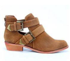 Brand Hot Buckle  Cutout Flat Black/Brown Women Motorcycle Boots Ankle Boots Shoes Riding Gladiator Booties size36~41-in Boots from Shoes on Aliexpress.com   Alibaba Group