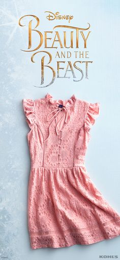 It doesn't get much prettier than this juniors' lace rose dress with tons of gorgeous feminine details. It's the perfect look for all of your spring occasions, from Easter to graduations to wedding and baby showers. See the movie in theaters 3/17 then discover the enchantment of Disney Beauty and the Beast at Kohl's.