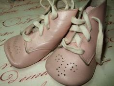 Pair of Pink Vintage Baby Shoes