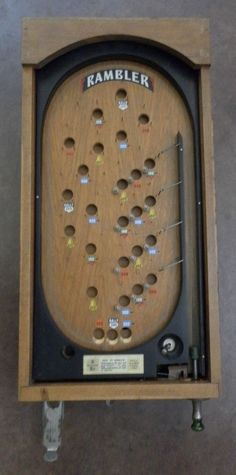 1940 S Vintage Wooden Bagatelle Table Top Pinball Game