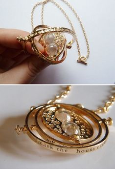 P I N T E R E S T @melodye10✨ http://www.pinterest.com/melodye10/   Hermione's Time Turner Necklace
