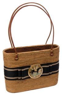 Horse Medallion Oval Hand Bag
