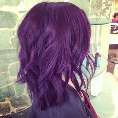 Love her short cut and purple from hairbyashleyg. Such a cute and fun style
