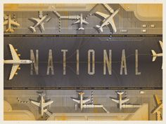 'The National' North American Tour Poster - DKNG