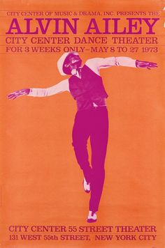 VARIOUS ARTISTS. ALVIN AILEY / AMERICAN DANCE THEATER. Group Alvin Ailey, Theatre Group, Theater, Concert Posters, Theatre Posters, Event Posters, Gig Poster, Festival Posters, Various Artists