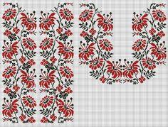 Ukrainian vyshyvanka pattern Hungarian Embroidery, Folk Embroidery, Embroidery Patterns Free, Learn Embroidery, Cross Stitch Embroidery, Embroidery Designs, Cross Stitch Borders, Cross Stitch Charts, Cross Stitch Designs