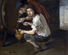 Gli spillatori di vino by Giacomo Ceruti (Italian 1689-1767)