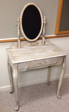 Hey, I found this really awesome Etsy listing at https://www.etsy.com/listing/177582514/antique-looking-vanity-table-with