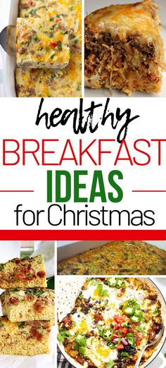 Healthy and fun breakfast ideas for Christmas morning.  Gluten free, whole 30, make ahead and more.