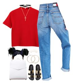 """""""Pipe Down"""" by oh-aurora ❤ liked on Polyvore featuring Chicnova Fashion, Tommy Hilfiger, Vere Verto, Boohoo, ASOS, Kenzo and Nephora"""