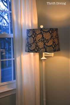 The Ugliest Thrifted Lamp Gets a New Makeover - Thrift Diving Blog : Thrift Diving Blog