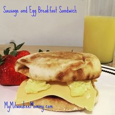 Delicious Sausage and Egg Breakfast Sandwich - SO EASY!  Thank you @jvillesausage