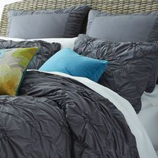 Savannah Duvet Cover & Sham - Charcoal