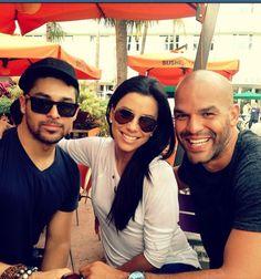 @WValderrama: Have u seen a Latin Oreo?.. The band is back 2gether in #Miami, @EvaLongoria & @amaury_nolasco..