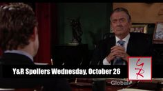 """""""The Young and the Restless"""" spoilers for Wednesday, October 26, tease that Billy (Jason Thompson) will try to stop Jack's (Peter Bergman) mistake. In Jack's office, Billy storms in as his security guard chases after him. Jack orders Billy removed from the premisesbut eventually lets his brother ma"""