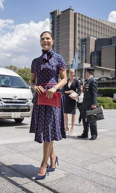 Crown Princess Victoria on the second day of her visit to Japan