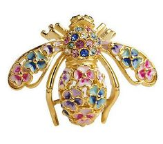 d0a1e785179 Joan River s Limited Edition Pansy Bee Pin  ) Bee Jewelry