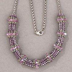 Miyuki Triangle Herringbone Necklace Instructions