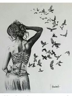 Imagen de art, bird, and drawing