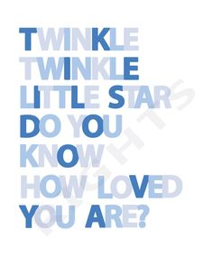 Twinkle Twinkle Little Star Blue by ProjectPiper on Etsy