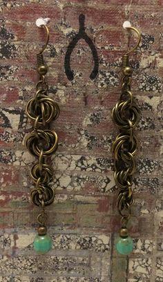 4-Tier Möbius Flower Earrings by WishboneRepublic on Etsy