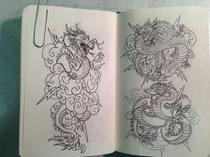 Some Oriental Dragon drawings