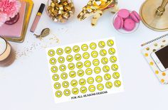Weather Planner Stickers Yellow Weather by ForAllSeasonsDesigns
