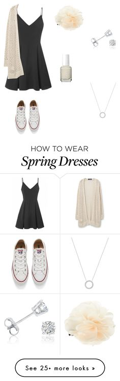 """Spring Style!"" by kittycat2227 on Polyvore featuring Converse, Violeta by Mango, Amanda Rose Collection, Accessorize, Essie and Michael Kors"
