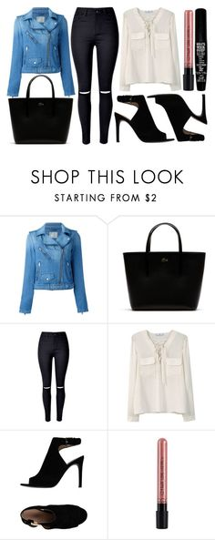 """street style"" by sisaez ❤ liked on Polyvore featuring Diesel, Lacoste, WithChic, MANGO, Tory Burch and TheBalm"