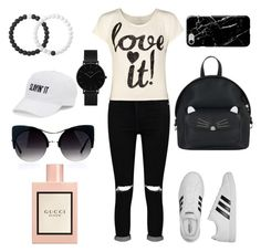 """""""Untitled #29"""" by massamisso on Polyvore featuring Boohoo, WearAll, adidas, Accessorize, Recover, CLUSE, Lokai, SO and Gucci"""