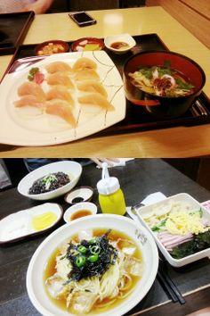 연어초밥이랑 차가면///  차가면 홍콩반점 신메뉴인데 맛잇긴한데 또먹고싶어서 돌아버릴것같지는 않다 ㅇㅇ