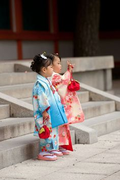 Adorable Japanese Kids in Traditional Costumes, Kimono ❤️