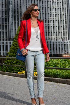 El blog de Silvia: Americana roja & Jeans