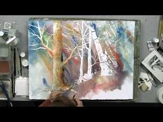 Tree Bark Texture in Watercolor with Linda Baker - YouTube