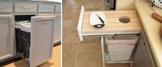 Resultado de imagem para lixeira de cozinha na marcenaria