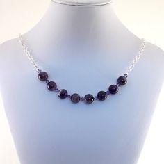 Purple Amethyst Choker Necklace Swarovski by CinLynnBoutique, $27.00