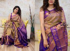 Ultimate Festive Saree Collections are Here Lehenga Saree Design, Saree Blouse Designs, Chanderi Silk Saree, Pure Silk Sarees, Kajal Agarwal Saree, Wedding Saree Collection, Wedding Silk Saree, Simple Sarees, Saree Look