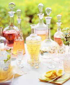 Beautiful use of decanters