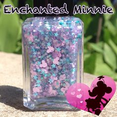 Enchanted Minnie is a recent addition to the Mouse Love collection. Enchanted Minnie is a glitter topper filled with so many fun glitters including