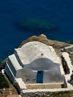 GREECE CHANNEL | coastal Agia Anna church. Amorgos, Cyclades islands, Greece