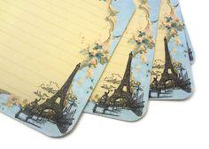 French Recipe Cards, Funny Recipe Cards, Paris Bridal Shower, Hostess Gift, Vintage Paris, Eiffel Tower, 4x6, Set of 12