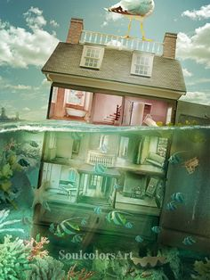 Dolhouse under water by SoulcolorsArt on DeviantArt