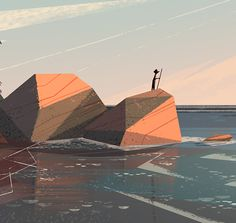 Seagazing by Benjamin Flouw, via Behance