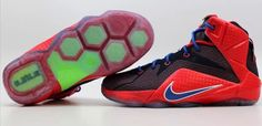633485c14a07 Nike Lebron XII 12 (GS) Superman Shoes Uni Red Game Royal Size 7 Y (685181- 601)  Nike  Athletic